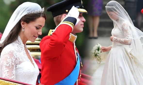 Royal wedding leak Kate Middletons wedding dress designer was leaked ahead of her big day Image GETTY