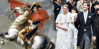 Royal wedding shock The wedding of Jean Christophe and Countess Olympia Image GETTY