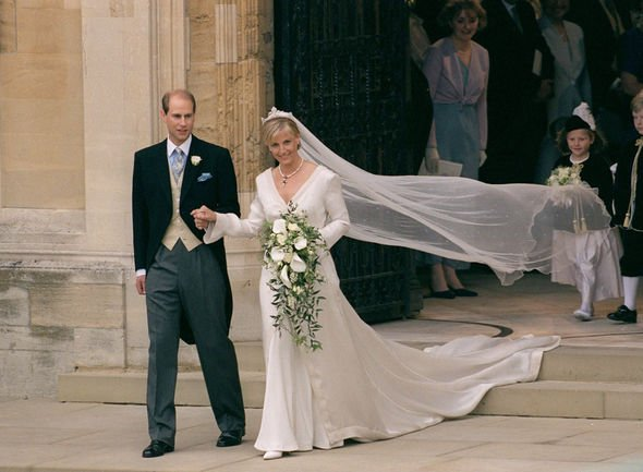 Sophie Countess of Wessex and Prince Edward married in Image GETTY