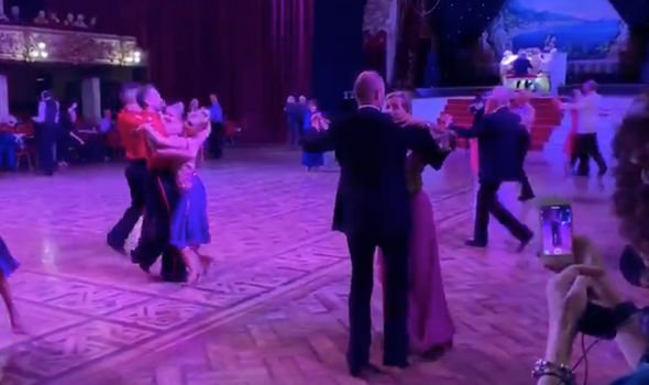 Sophie Wessex danced the waltz alongside other couples who regularly take dancing lessons