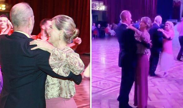 Sophie Wessex was spotted dancing in the Blackpool Tower Ballroom