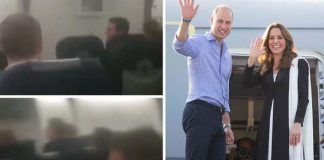 The Duke and Duchess of Cambridge were caught in a vicious thunderstorm Image Daily Mirror