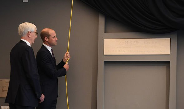 The Duke of Cambridge revealed a plaque Image Getty Images