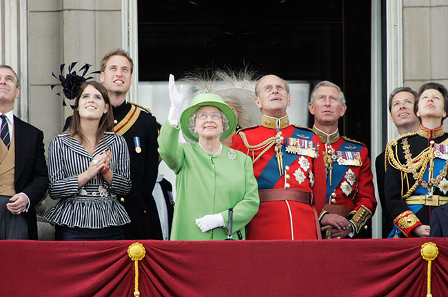The Queen enjoyed a joke with her nephew right Photo C GETTY IMAGES