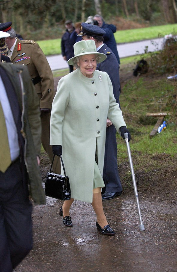 The Queen underwent surgery in to repair a torn cartilage Image GETTY
