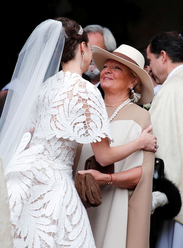 The bride is congratulated by her new mother in law Image EMPICS