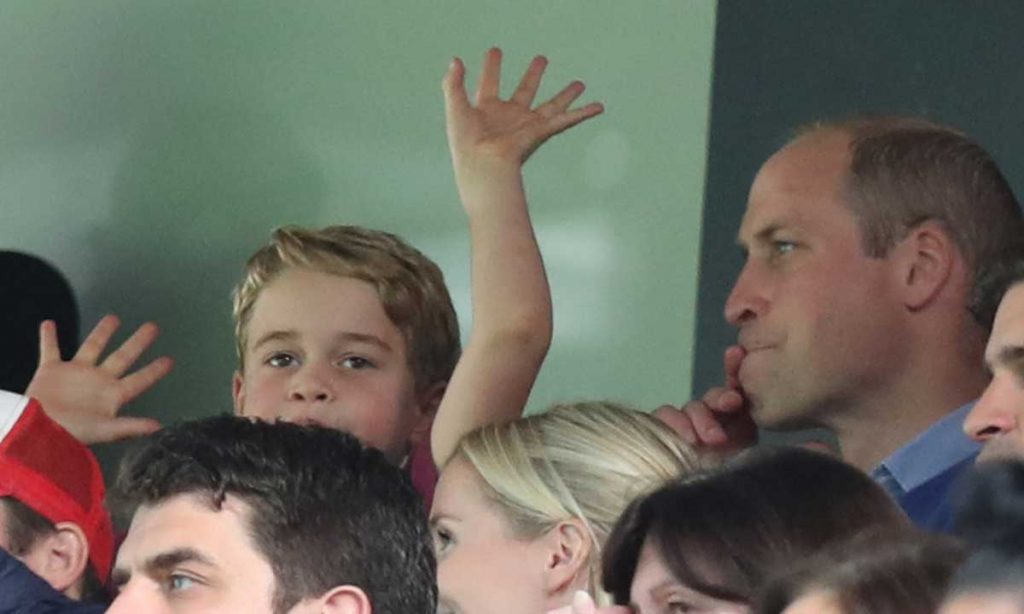 Why Prince William had to tell Prince George to contain his excitement at football match Photo C GETTY IMAGES