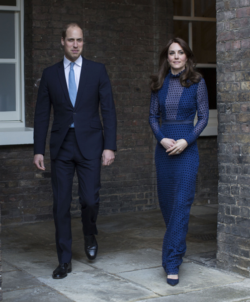 William and Kate previously pictured outside their London home Photo C GETTY IMAGES