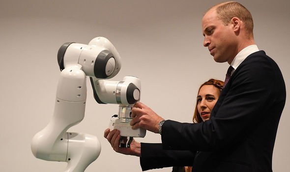 William was introduced to academics from the University's Robotics Institute Image Getty Images