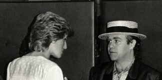 cropped Elton and Diana in Image GETTY