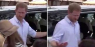 cropped Prince Harry told off a reporter in Malawi Image ITN