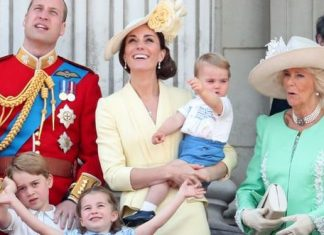 cropped Princess Charlotte The Cambridge family with the Duchess of Cornwall Image Getty