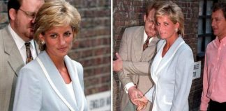 cropped Princess Diana and Prince Charles on the day the divorce was finalised in Image Getty