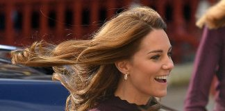 cropped The Duchess had her hair styled in her trademark perfect blowdry which showed off her Asprey Photo C GETTY IMAGES