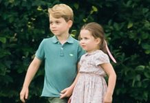 prince george princess charlotte playing t