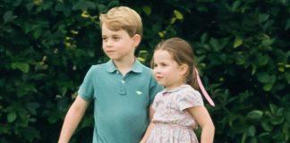 prince george princess charlotte playing t