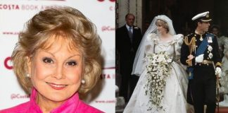 Angela Rippon royal secret How Princess Diana broke ban and spilled about wedding dress Image GETTY