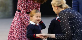 Greg laughed at Charlottes handshake when she started school Image Getty Images