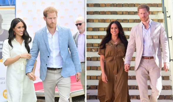 Harry and Meghan on their tour of Southern Africa