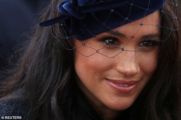 However make up artist Lisa Little suggested that Meghan had gone for look of Hollywood glamour today