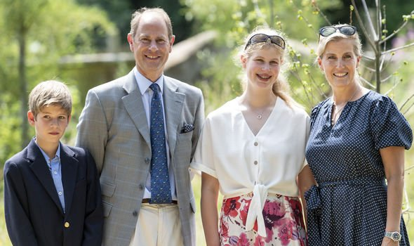 James Viscount Severn Prince Edward Lady Louise Windsor Sophie Countess of Wessex