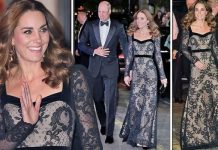 Kate and William arrive for the Royal Variety Performance Image GETTY
