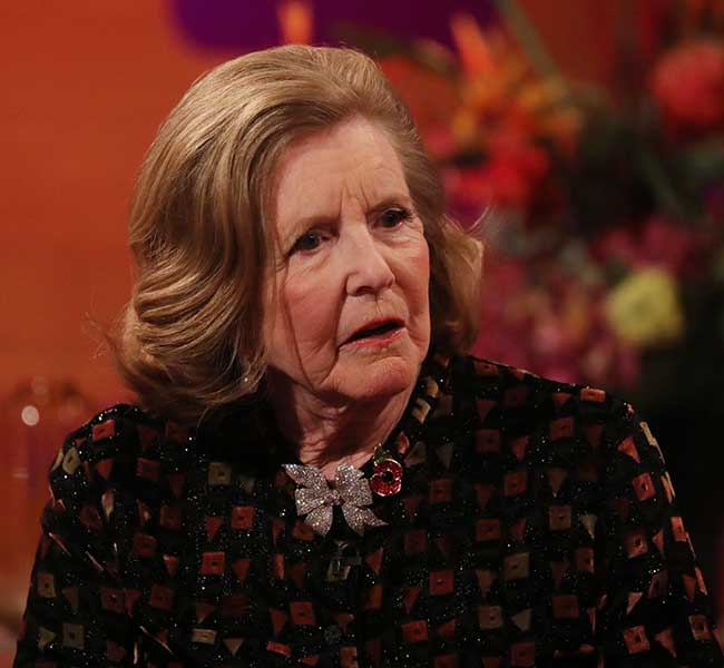 Lady Anne Glenconner on The Graham Norton Show Photo C GETTY IMAGES