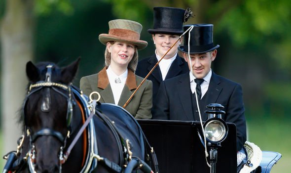 Lady Louise Windsor carriage driving