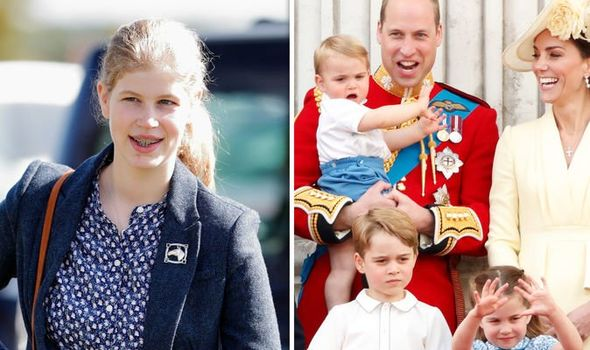 Lady Louise Windsor reportedly helped look after her cousins Image GETTY