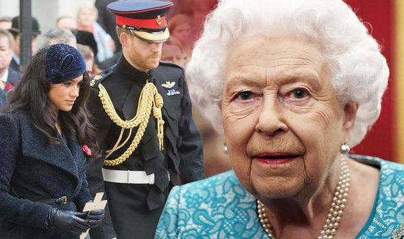 Meghan Markle Prince Harry and the Queen Image GETTY