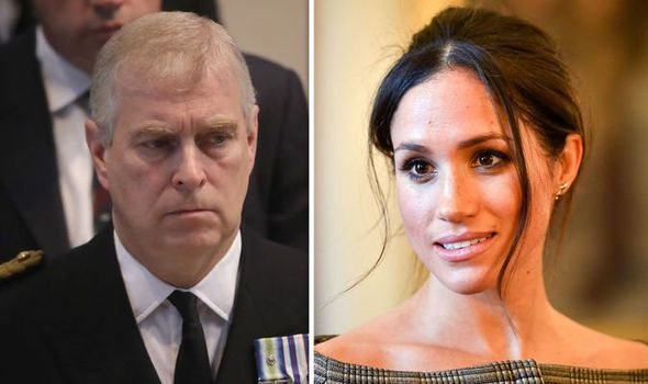 Prince Andrew and Meghan Markle