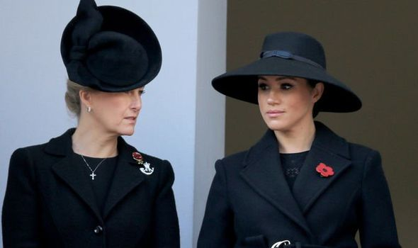 Meghan Markle with Sophie Wessex Image Getty