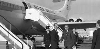 Peter Middleton pictured standing next to the aircraft Photo C GETTY