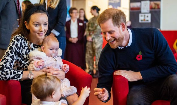Pictures of the engagement were released one day after Harry and Meghan visited the centre