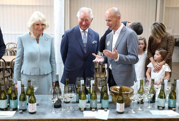 Prince Charles and Camilla split The Duke and Duchess were all smiles during a visit to a winery Image GETTY