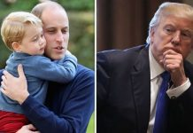 Prince George and Prince William Donald Trump Image Getty