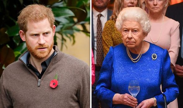 Prince Harry and the Queen Image GETTY