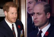 Prince William and Harry were sat separately at the Festival of Remembrance on Saturday Image GETTY