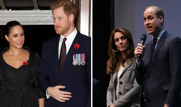 Prince William spoke for Prince Harry and Meghan on stage Image GETTY