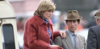 Princess Diana at Aintree racecourse with Prince Charles while pregnant with William Image GETTY