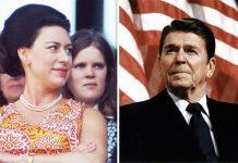 Princess Margaret and Ronald Reagan Image Getty