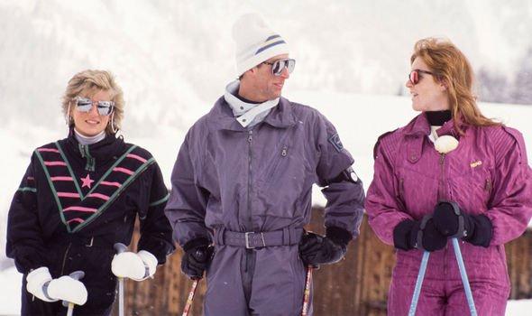 Sarah Ferguson and Prince Charles on the skiing trip with Princess Diana