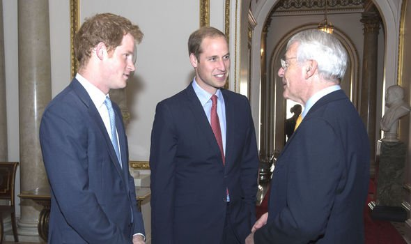 Sir John with Harry and William