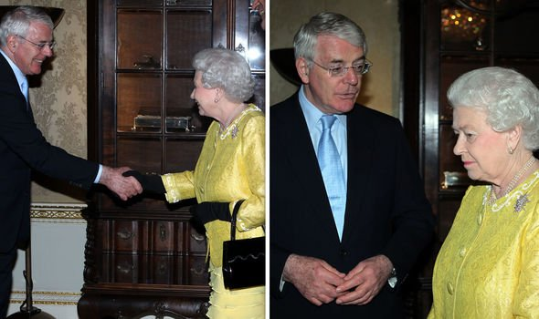 Sir John with the Queen