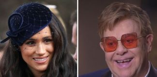 The Duchess of Sussex and Sir Elton Image Getty