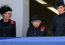 The Queen Camilla and Kate at Remembrance Service Image GETTY