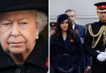 The Queen is disappointed by Meghan and Harrys confrontational approach with the media Image GETTY