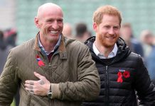 The former rugby player and royal shared a hug Photo C GETTY IMAGES