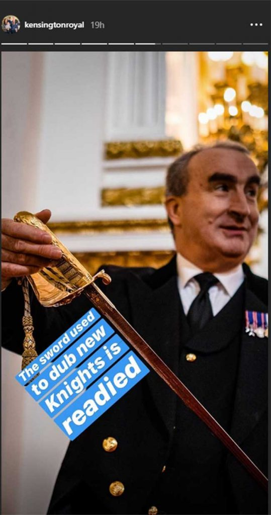 The sword is readied for the investiture Photo C GETTY IMAGES
