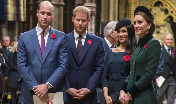 William Kate Harry and Meghan